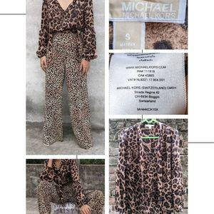Michael Kors blouse with leopard print